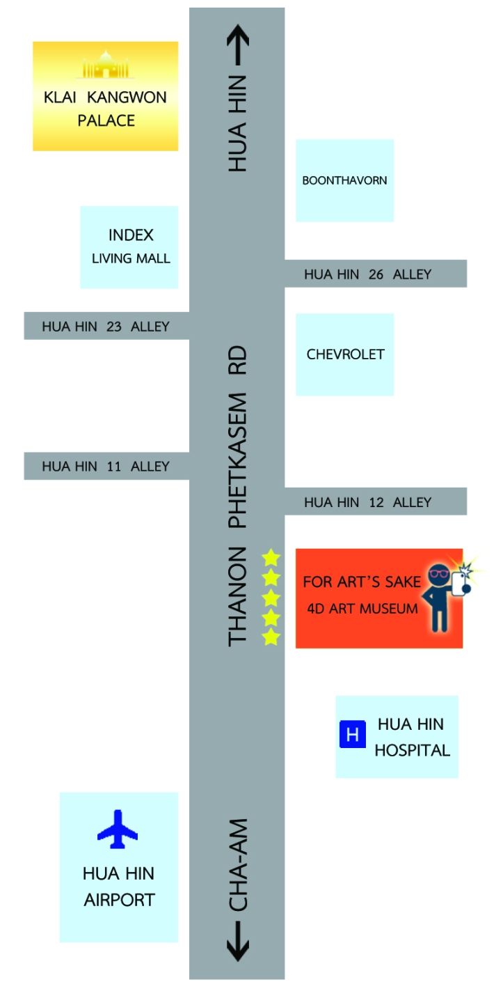 For Art's Sake Hua Hin Map (Art Museum)