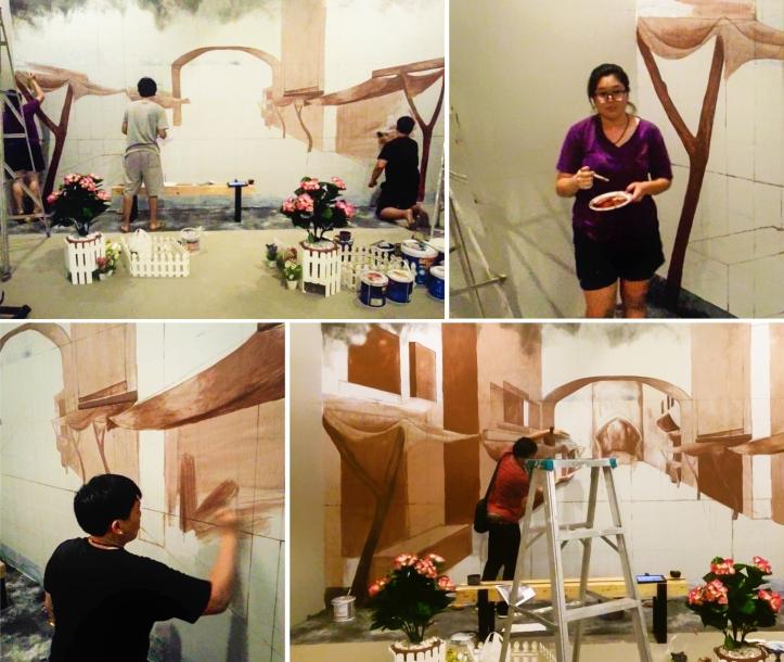 ภาพบรรยากาศการทำงานของศิลปินชาวไทย ที่พิพิธภัณฑ์ภาพวาด 4 มิติ For Art's Sake